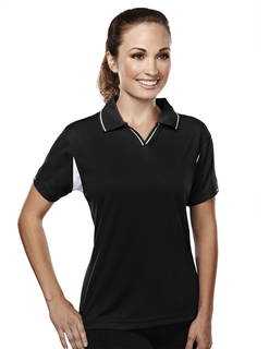 Movement-Womens Poly Ultracool Waffle Knit Golf Shirt-TM Performance