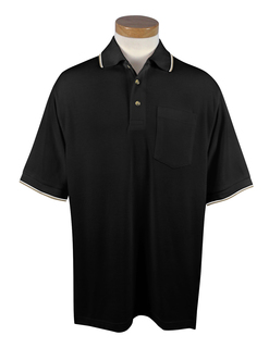 Conquest-Mens 60/40 Ultracool Mesh Pocketed Golf Shirt-Tri-Mountain