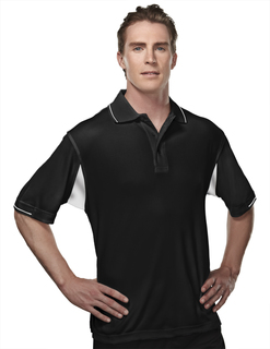 Action-Poly Ultracool Waffle Knit Golf Shirt-TM Performance