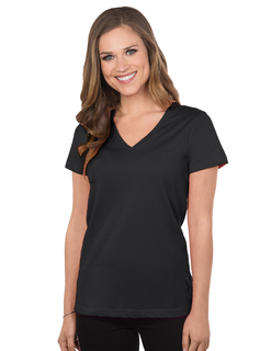 Appeal-Womens Cotton Jersey Short Sleeve V-Neck Knit-Tri-Mountain