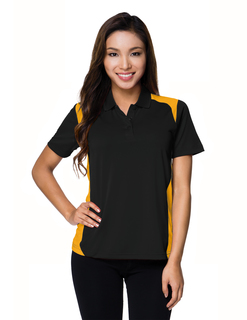 Lady Blitz-Womens 100% Polyester Uc Knit Polo Shirt-TM Performance