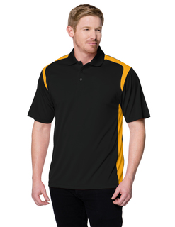 Blitz-Mens 100% Polyester Uc Knit Polo Shirt-TM Performance