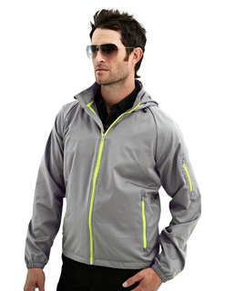 Cf-I-Mens 100% Polyester Rib Stop Water Resistant Long Sleeve Hoodly Jacket-