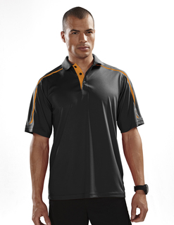 Titan-Mens 100% Polyester Uc Knit Polo Shirt-