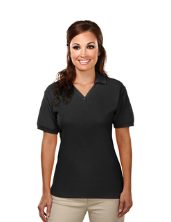 Stature-Womens Cotton Baby Pique Y-Neck Golf Shirt-Tri-Mountain