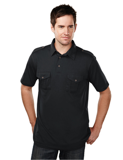 Uptown-Mens Cotton/Poly 60/40 Knit Polo Shirt, w/ Epaulette