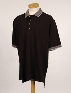 Sterling-Mens Cotton Pique Golf Shirt With Jacquard Trim-