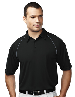 Dauntless-Mens 100% Polyester Raglan Knit Polo Shirt
