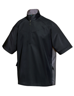 Icon-Windproof/Water Resistant 1/2 Zip Short Sleeve Windshirt