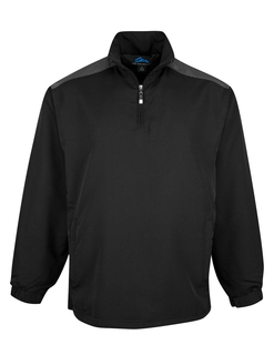 Parkview-Windproof/Water Resistant 1/4 Zip Long Sleeve Windshirt-Tri-Mountain