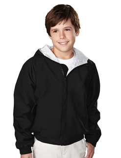 Bay Watch/Youth-Youth Nylon Hooded Jacket With Jersey Lining-Tri-Mountain