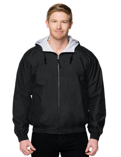 Bay Watch-Nylon Hooded Jacket With Jersey Lining-