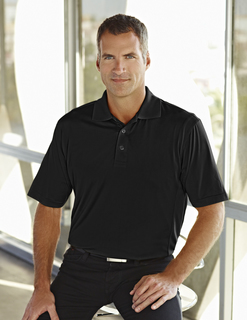 Glendale-Mens Poly Ultracool Jaquard Knit Golf Shirt