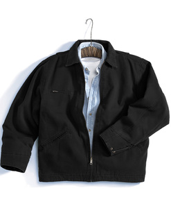 Oakland-Enzyme Wash Cotton Canvas Work Jacket With Quilted Lining-Tri-Mountain