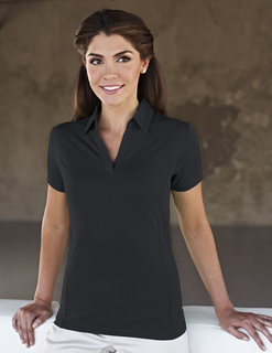 Geneva-Womens 90% Polyester / 10% Spandex Knit Polo Shirt