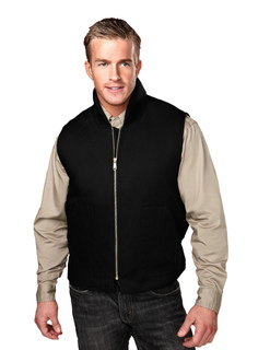 Lodestar-Cotton Canvas Work Vest With Quilted Lining-