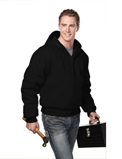 Timberline-Cotton Canvas Hooded Work Jacket With Quilted Lining