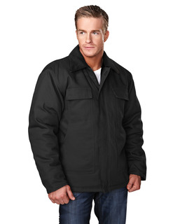 Canyon-Cotton Canvas Work Jacket With Quilted Lining-Tri-Mountain