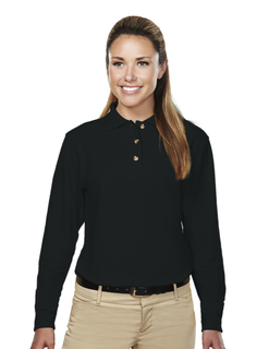 Victory-Womens 60/40 Pique Long Sleeve Golf Shirt-Tri-Mountain