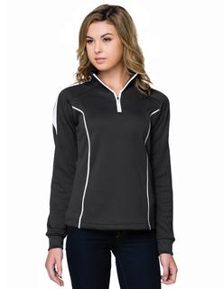 Fairview-Womens 100% Polyester Mesh Textured 1/4 Zipper Pullover