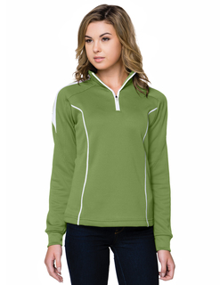 Fairview-Womens 100% Polyester Mesh Textured 1/4 Zipper Pullover-TM Performance