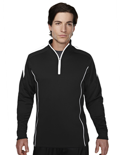 Fullerton-Mens 100% Polyester Mesh Textured 1/4 Zipper Pullover