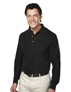 Champion-Mens 60/40 Pique Long Sleeve Golf Shirt-Tri-Mountain