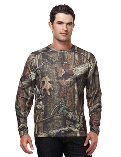 Force Camo-Polyester Mesh Long Sleeve Shirt With Realtree Ap® & Tri-Mountain Ultracool™-Tri-Mountain