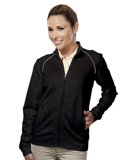 Exeter-Womens 100% Polyester Full Zip Ls Knit Shirt
