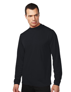 Heron-Mens 100% Polyester Ls Knit Mock Neck Shirt, w/ Self Cuff-TM Performance