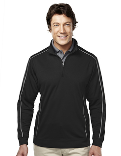 Durham-Mens 100% Polyester 1/4 Zip Ls Knit Shirt-Tri-Mountain Gold
