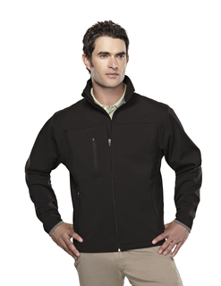 Flight-Mens Poly Stretch Bonded Soft Shell Jacket-