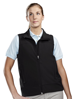 Zeal-Womens Poly Stretch Bonded Soft Shell Vest