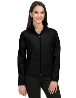 Ascent-Womens Poly Stretch Bonded Soft Shell Jacket-TM Performance