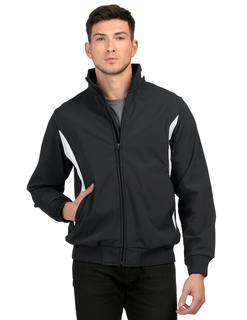 Prometheus-Mens 88% Polyester & 12% Spandex Bonded Stretch Woven Water Resistant Jacket