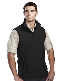 Zeneth-Mens Poly Stretch Bonded Soft Shell Vest-