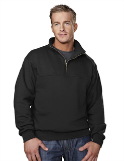React-Cotton/Poly 1/4 Zip Firefighters Work Shirt-Tri-Mountain