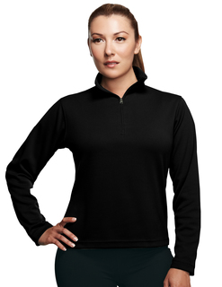 Mission-Womens Poly Ultracool Pique 1/4 Zip Pullover Shirt-TM Performance