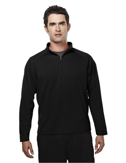 Milestone-Mens Poly Ultracool Pique 1/4 Zip Pullover Shirt