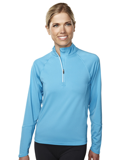 Lady Hyperion-Womens 88% Polyester 12% Spandex Knit Quarter Zipper Jogging Pullover,