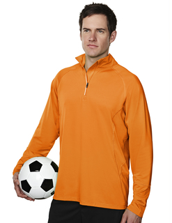 Hyperion-Mens 88% Polyester 12% Spandex Knit Quarter Zipper Jogging Pullover,-TM Performance