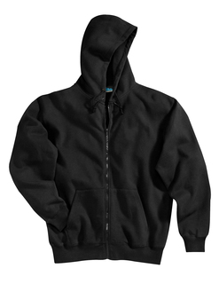 Prospect-Cotton/Poly Sueded Finish Hooded Full Zip Sweatshirt-