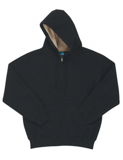 Marshall-Men 60/40 Thermal Full Zip Hooded Sweatshirt With Sherpa Fleece Lining-