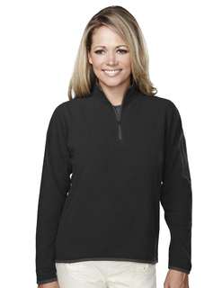 Juneau-Womens 100% Polyester Fleece 1/4 Zipper Pullover-Tri-Mountain