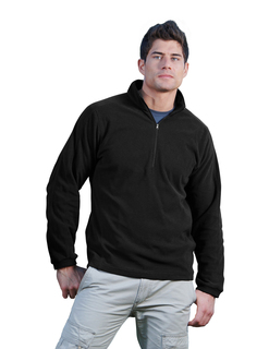 Horizon-Mens 100% Polyester Anti-Pilling Dobby Fleece 1/2 Zip Ls Knit Shirt-Tri-Mountain