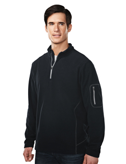 Fairbanks-Mens 100% Poly Micro Fleece Quarter Ziper Pullover-