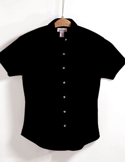 Monarch-Womens 60/40 Easy Care Short Sleeve Twill Shirt