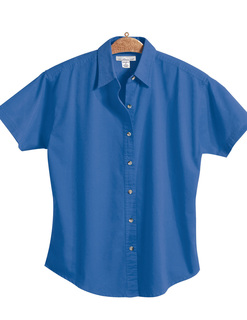 Monarch-Womens 60/40 Easy Care Short Sleeve Twill Shirt-