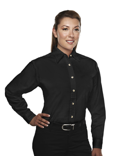 Consultant-Womens 60/40 Easy Care Long Sleeve Twill Shirt-Tri-Mountain