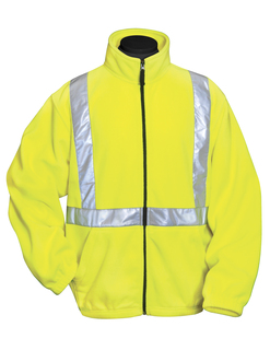 Precinct-100% Polyester Anti-Pilling Safety Fleece Jacket Ansi Class 2/Level 2-Tri-Mountain
